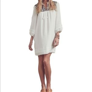 Saylor white Melis dress w/bronze embellishment xs